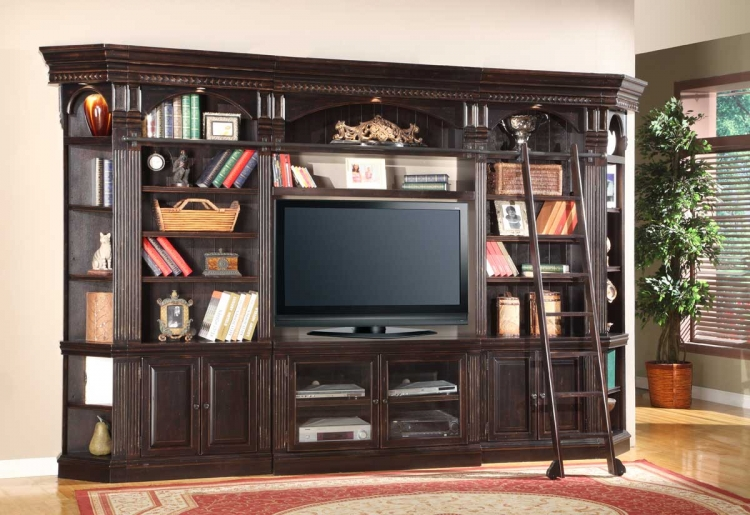 Venezia 50in Library Entertainment Wall Unit - Parker House