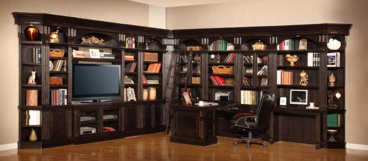 Venezia Library Bookcase Wall Unit - A - Parker House