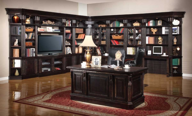 Venezia Library Bookcase Wall Unit - B - Parker House