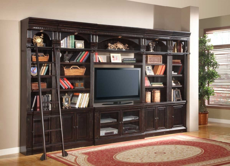 Venezia Library Entertainment Wall Unit