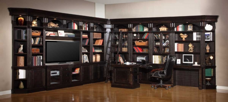 Venezia Library Bookcase Wall Unit - C