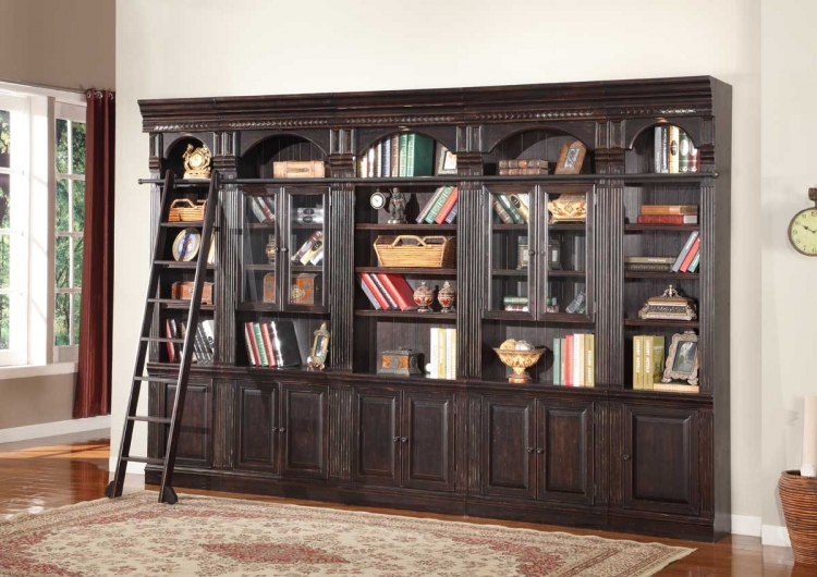 Venezia Library Bookcase Wall Unit - E