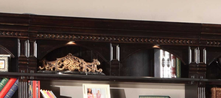 Venezia 60in Bookcase Bridge-Shelf-Backpanel