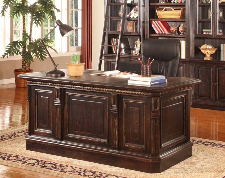 Venezia Double Pedestal Executive Desk - Parker House