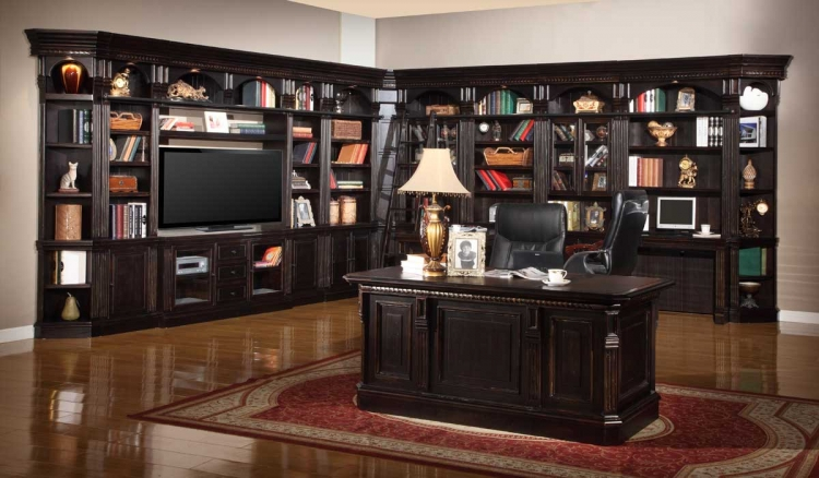 Venezia Library Bookcase Wall Unit - D - Parker House