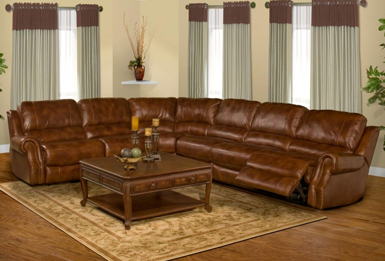 Zeus Sofa Sectional - Coffee - Parker Living