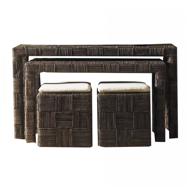 Nesting Tables Abs Twist 2 Picnic Stools-Padmas Plantation