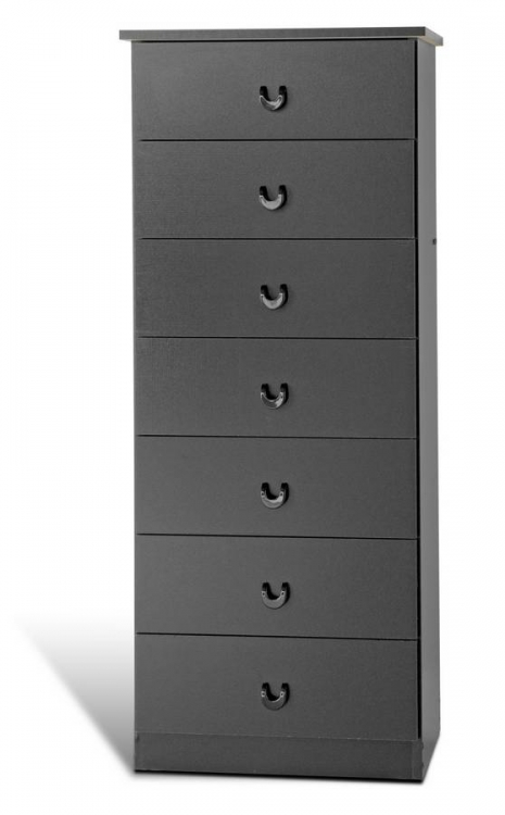 Black 7 Drawer Lingerie Chest