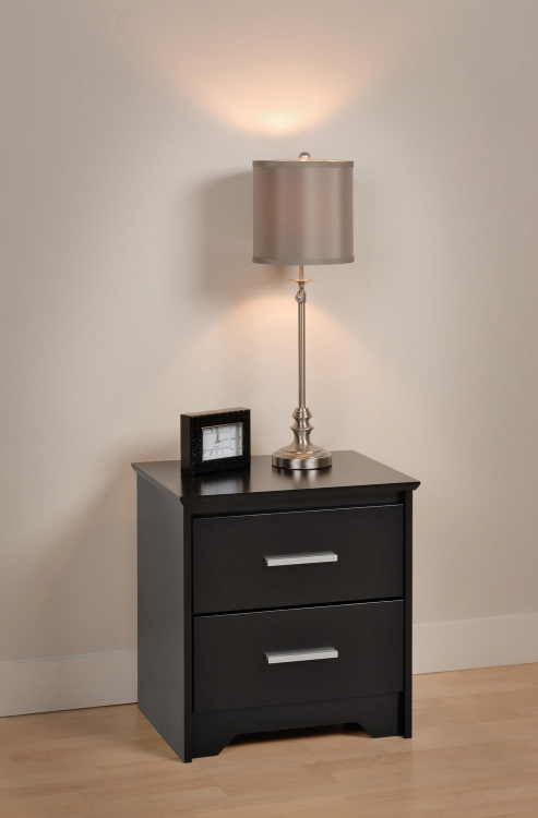 Coal Harbor 2 Drawer Night Stand - Black