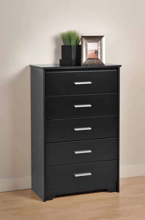 Coal Harbor 5 Drawer Chest - Black