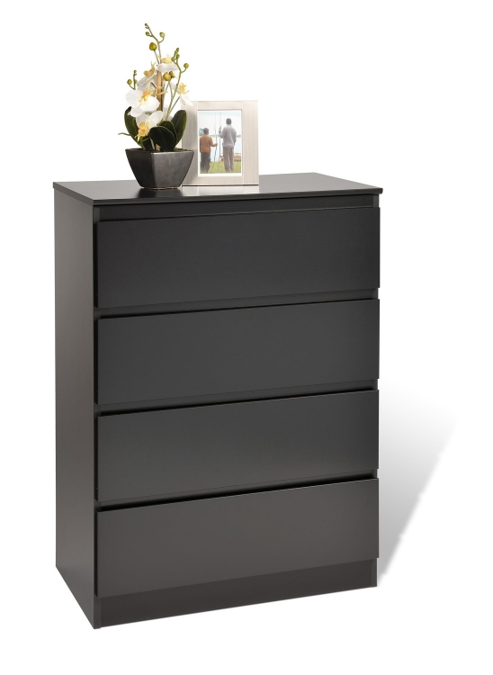 Avanti 4 Drawer Chest - Black