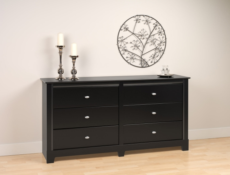 Kallisto 6 Drawer Dresser - Black - Prepac