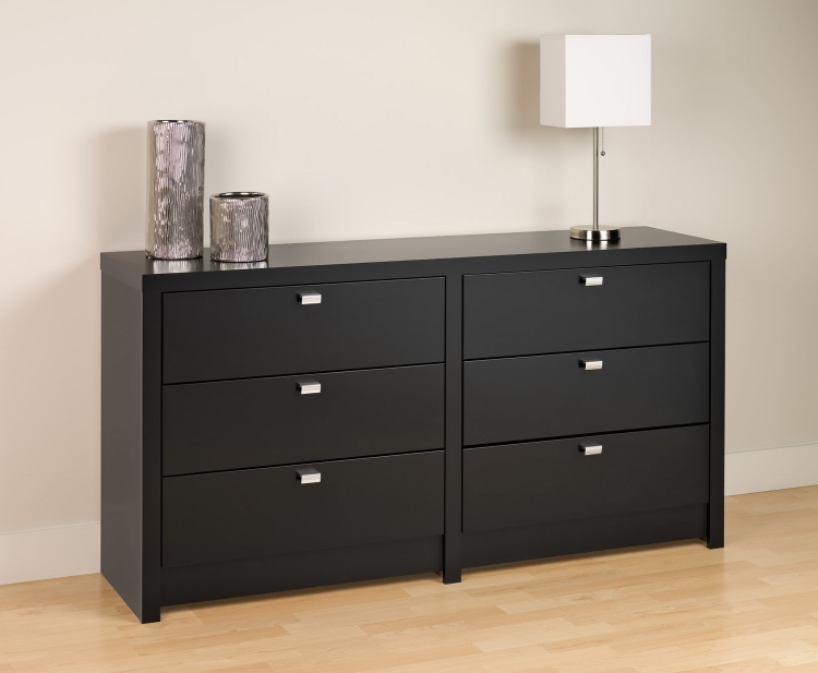 Series 9 6-Drawer Dresser - Black - Prepac