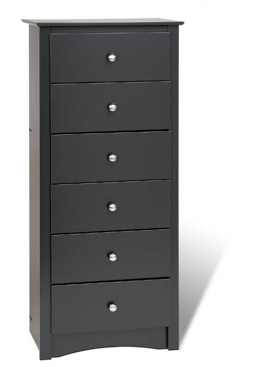 Black Sonoma 6 Drawer Lingerie Chest - Prepac