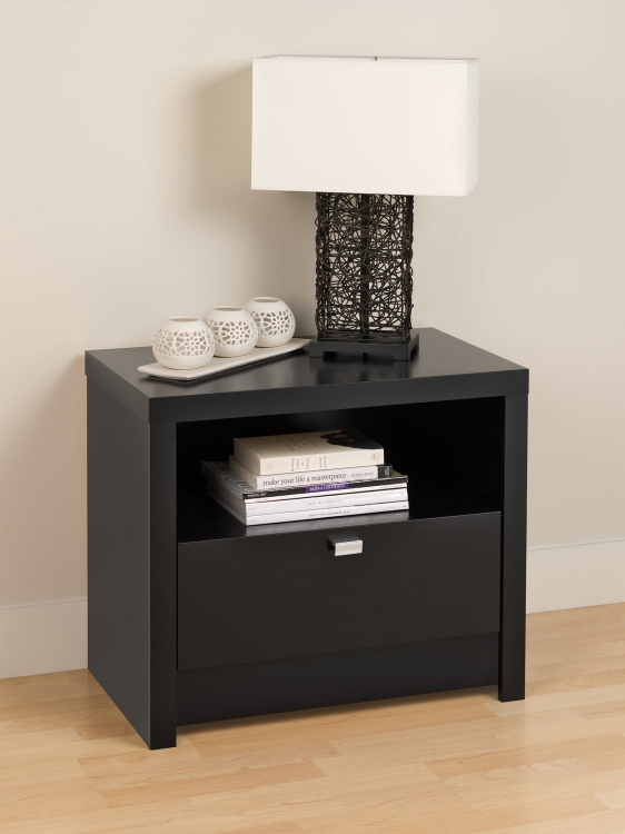 Series 9 1-Drawer Night Stand - Black