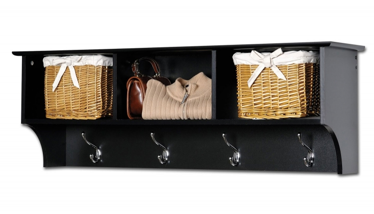 Sonoma Entryway Cubbie Shelf - Black - Prepac