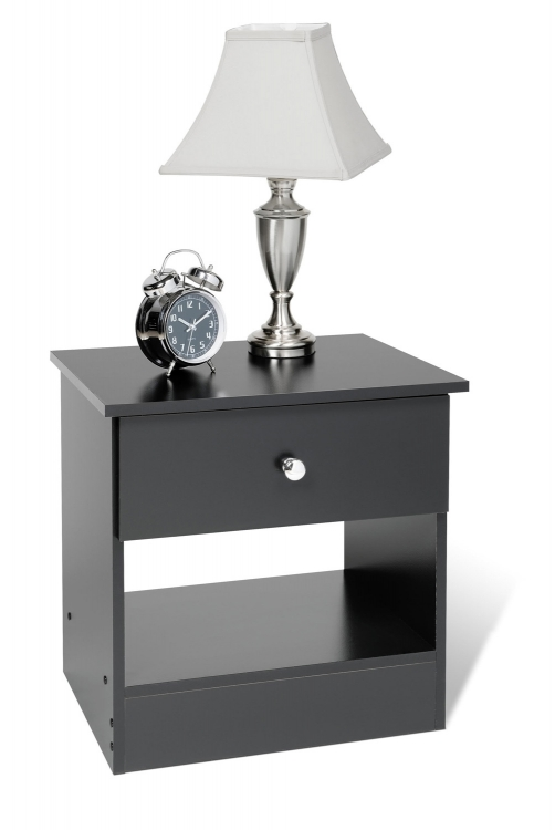 Edenvale 1 Drawer Night Stand - Black - Prepac