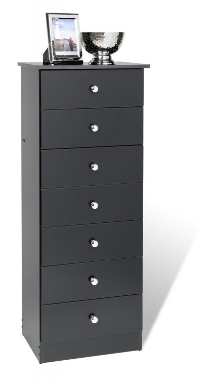 Edenvale 7 Drawer Tall Chest - Black
