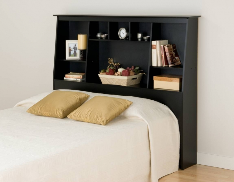 Black Tall Slant Back Headboards