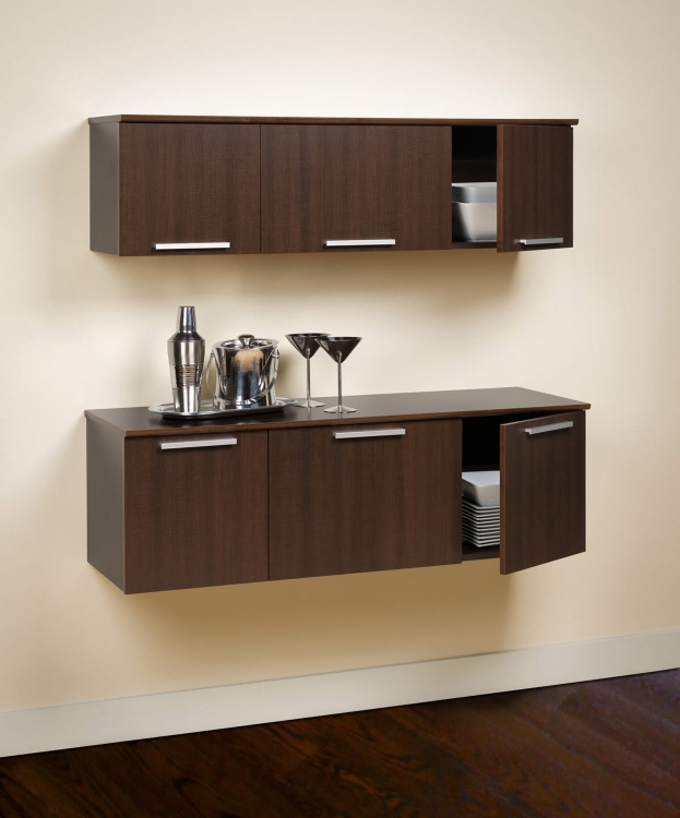 Coal Harbor Wall Mounted Buffet - Espresso - Prepac