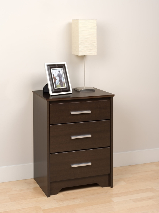 Coal Harbor 3 Drawer Tall Night Stand - Espresso