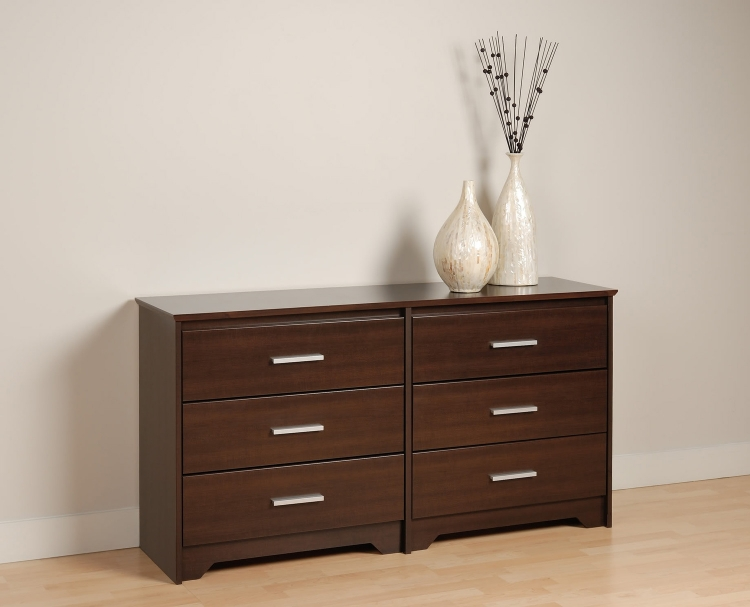 Coal Harbor 6 Drawer Dresser - Espresso - Prepac