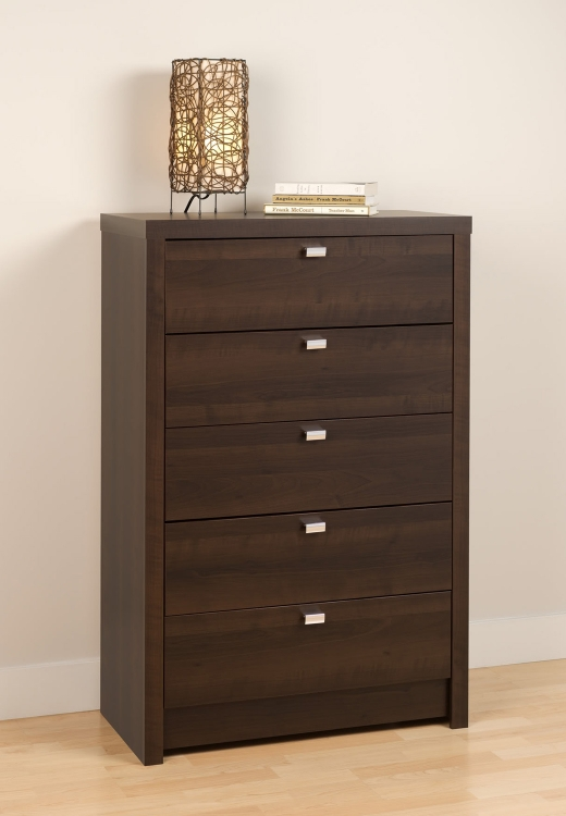 Series 9 5-Drawer Chest - Espresso - Prepac