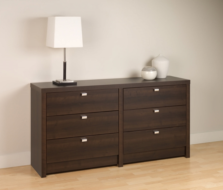 Series 9 6-Drawer Dresser - Espresso - Prepac