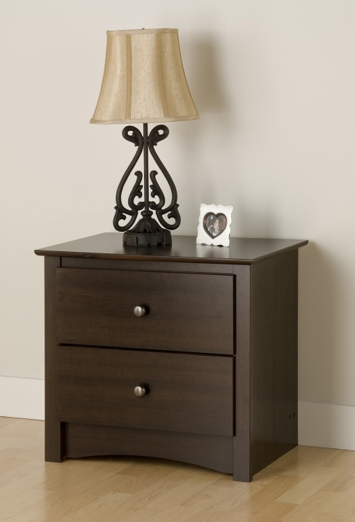 Fremont 2 Drawer Night Stand - Espresso