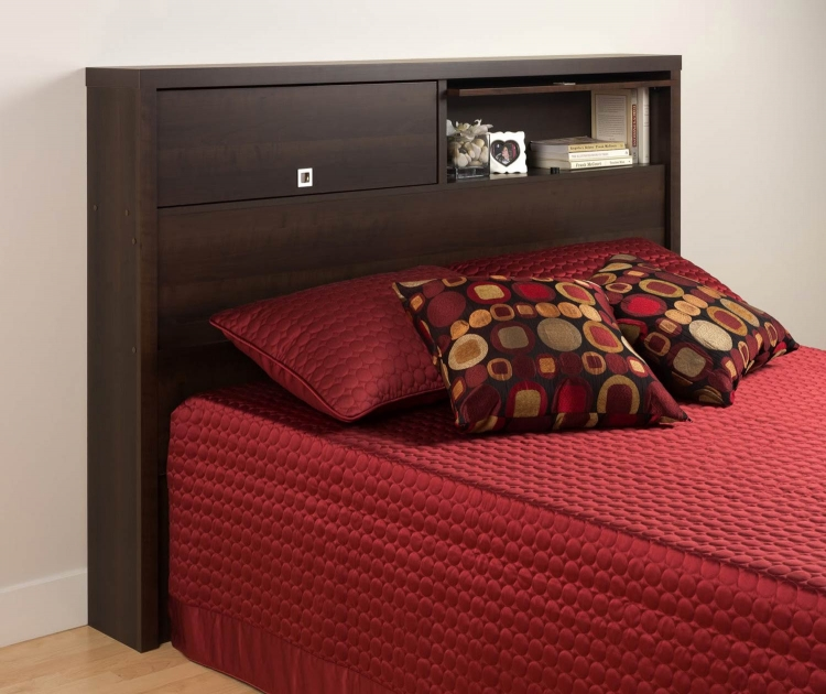 Series 9 2-Door Storage Headboard - Espresso