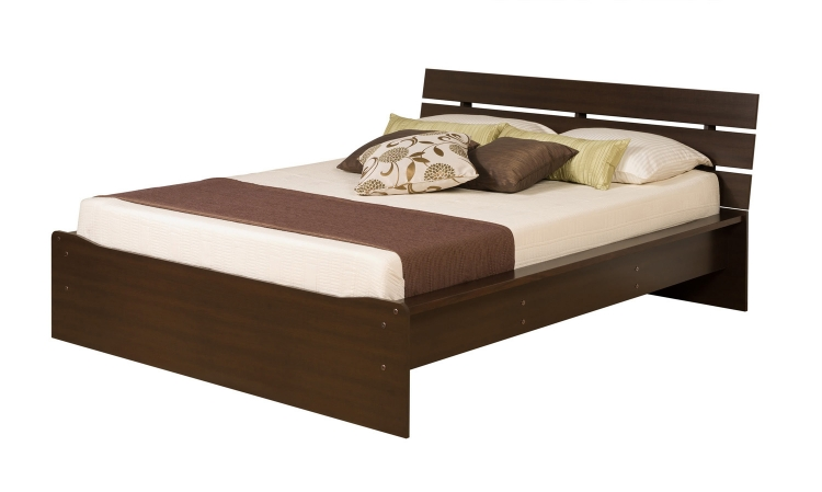 Avanti Platform Bed with Integrated Headboard - Espresso