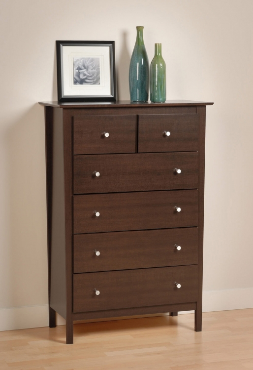 Berkshire 5 Drawer Chest - Espresso - Prepac