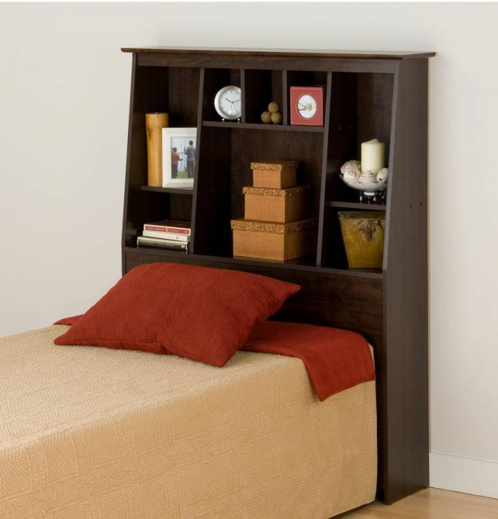 Espresso Manhattan Tall Slant Back Headboards