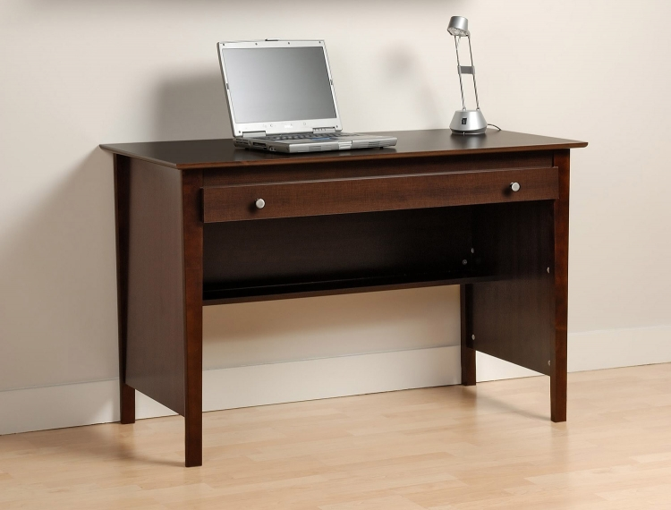 Contemporary Computer Desk - Espresso - Prepac