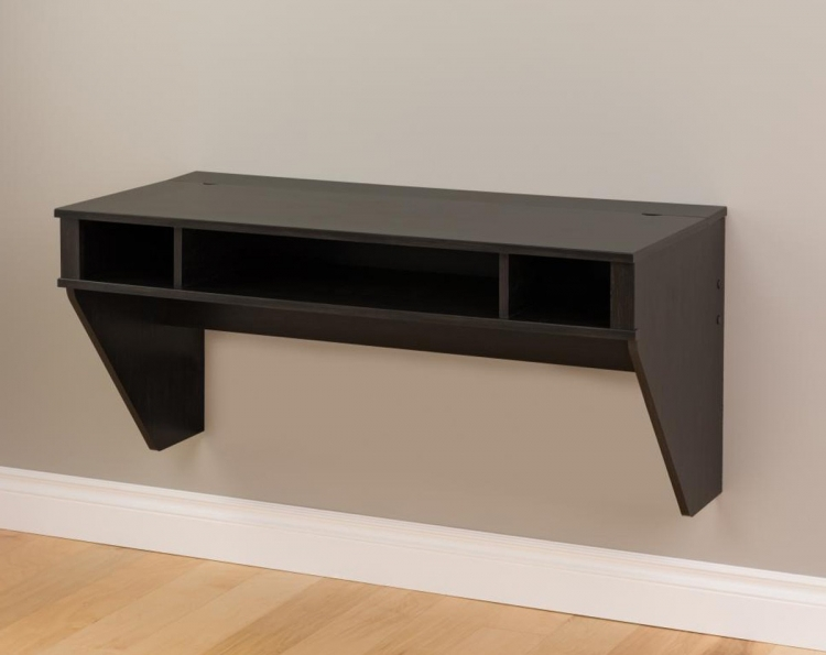 Designer Floating Desk - Washed Ebony