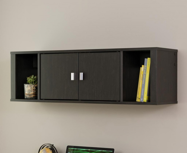 Designer Floating Hutch - Washed Ebony