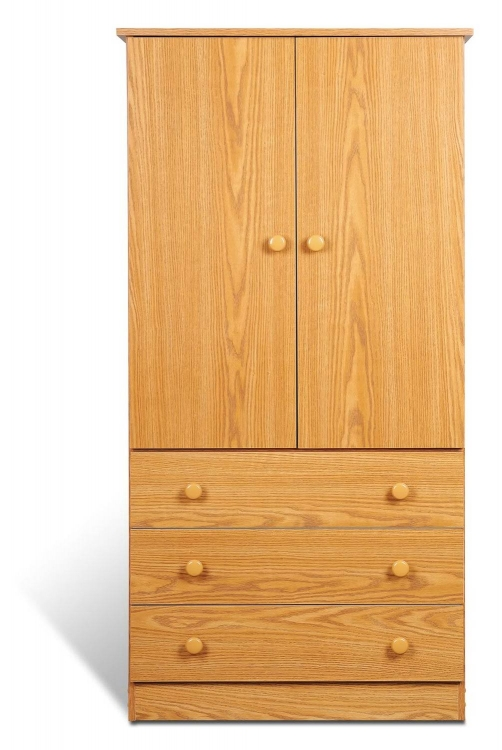 Edenvale 3 Drawer Wardrobe - Oak - Prepac