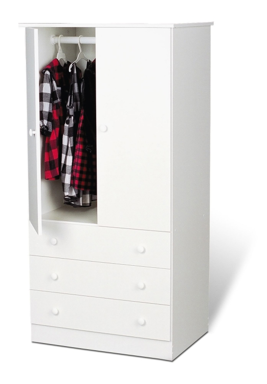 Edenvale 3 Drawer Wardrobe - White