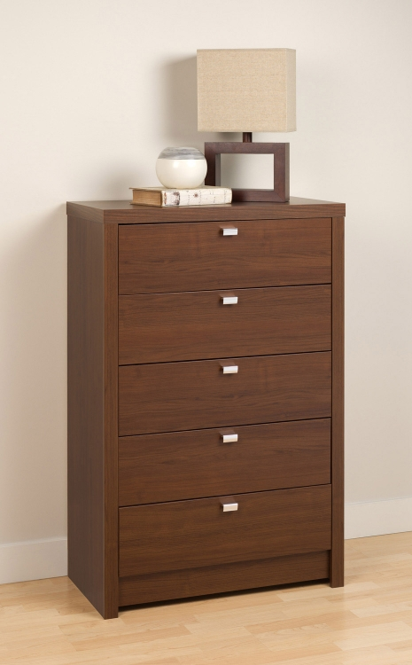 Series 9 5-Drawer Chest - Medium Brown Walnut