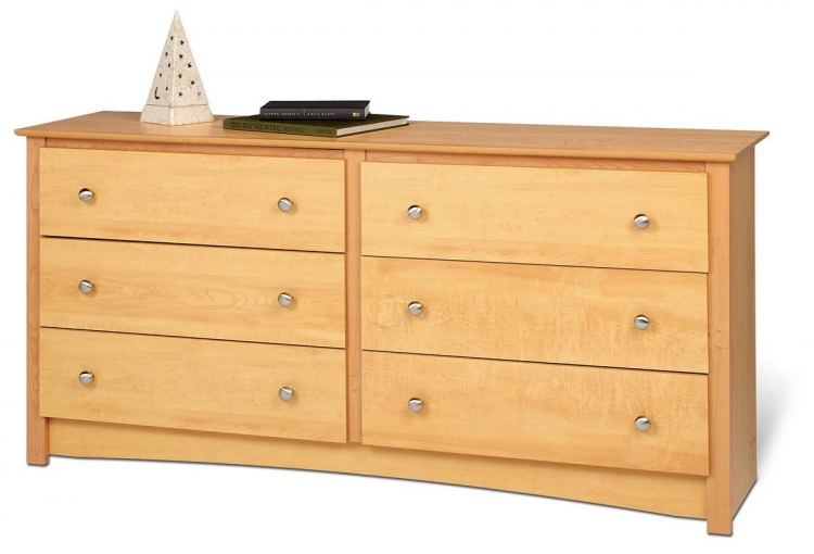 Maple Sonoma 6 Drawer Dresser