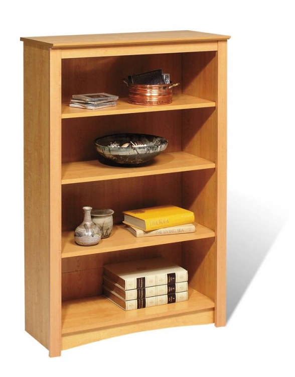 Maple Sonoma 4-shelf Bookcase - Prepac