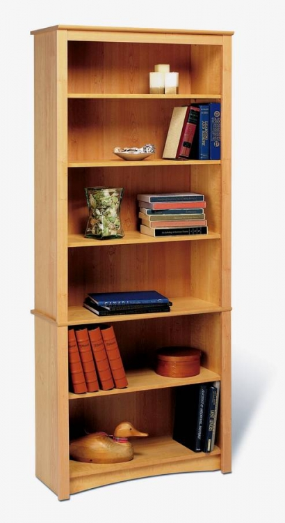 Maple Sonoma 6-shelf Bookcase - Prepac