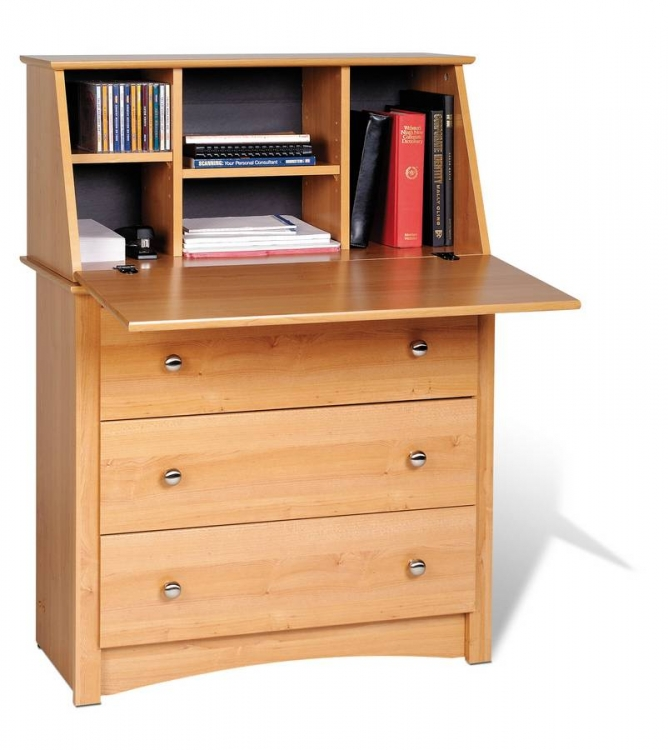 Maple Sonoma Secretary Desk - Prepac