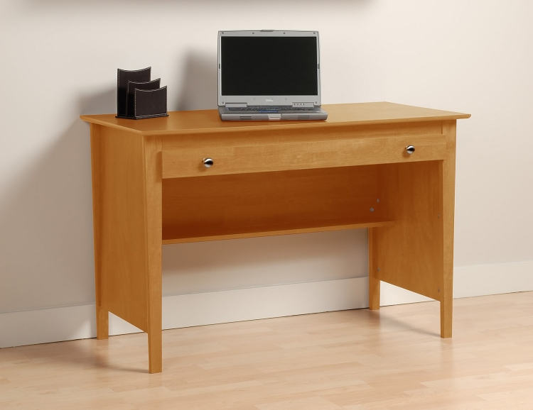 Contemporary Computer Desk - Maple - Prepac