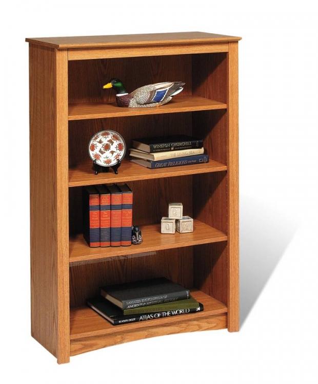 Oak Sonoma 4 Shelf Bookcase   Oak
