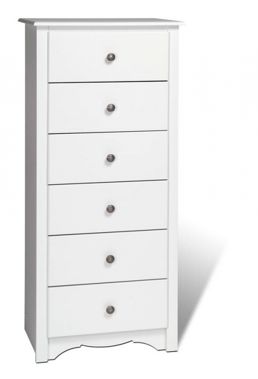 White Monterey 6 Drawer Lingerie Chest
