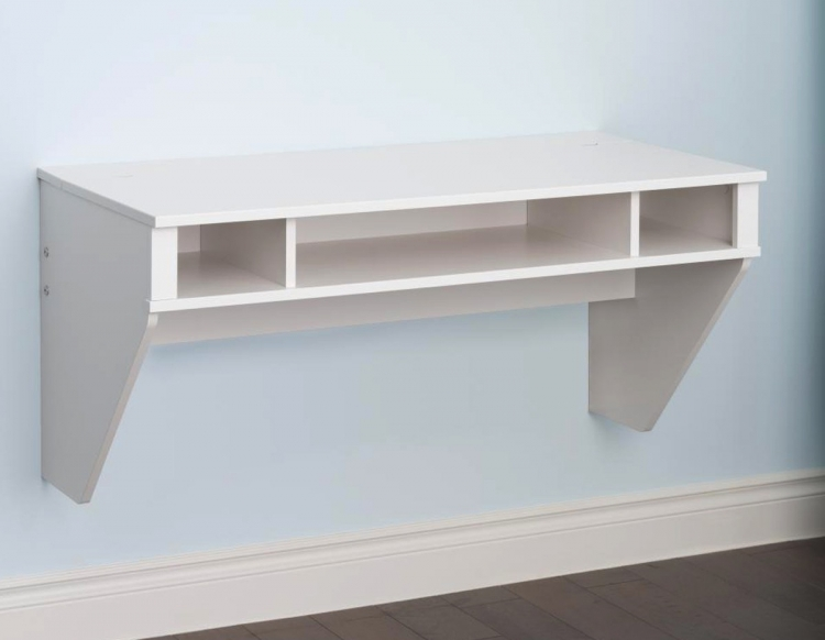 Designer Floating Desk - White - Prepac