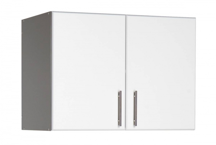 White Elite 32in Topper-Wall Cabinet with 2 Doors