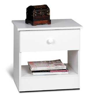 White Night Stand - Prepac