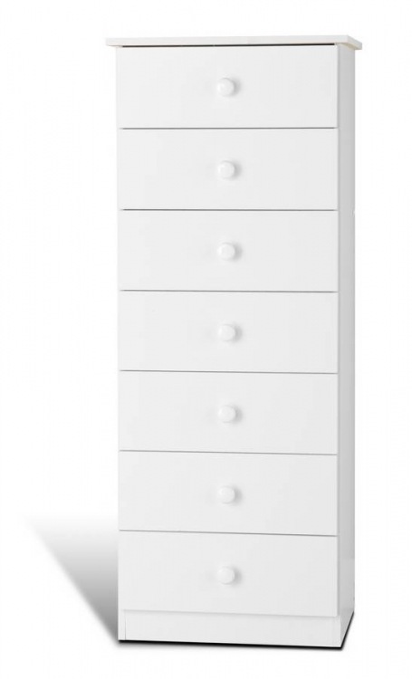 White 7 Drawer Lingerie Chest